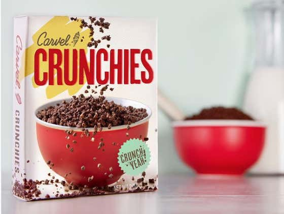 Holy Shit, Carvel Is Actually Releasing A Crunchies Cereal Tomorrow