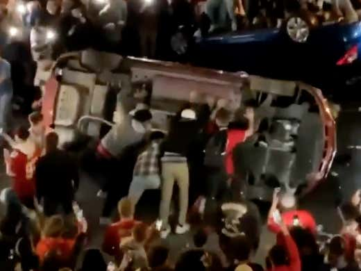 Ohio State Students Went Absolutely Bonkers Last Night For Apparently No Real Reason At All