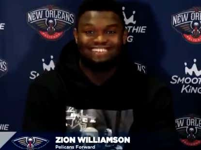Fire Up The Photoshop Machines Because Zion Is Pretty Much A Knick After He Spoke About How Much He Loves Madison Square Garden