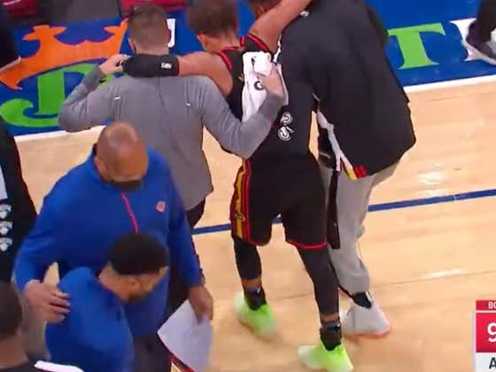 Trae Young Is Now The Latest Star Player That Had To Be Carried Off The Floor After Getting Hurt