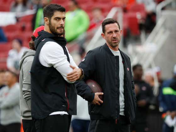 Kyle Shanahan Refuses to Say Jimmy Garoppolo Will Be on His Roster Sunday. And Kinda Sounds Like He Plans to Murder Him. Either Way, Jimmy G is Available.