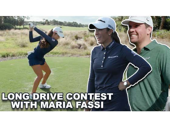 Trying To Outdrive Maria Fassi, One Of The Longest Hitters On The LPGA Tour