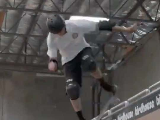 52-Year Old Tony Hawk Working His Way Through A New Trick Will Make You Realize Just How Unathletic You Really Are