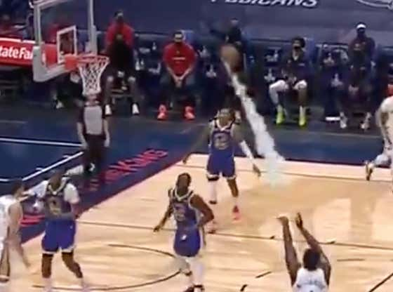The Marvel-Themed NBA Game Needs To Stay ... Strictly So We Can Get More Smoke Trails When Zion Airballs A Three