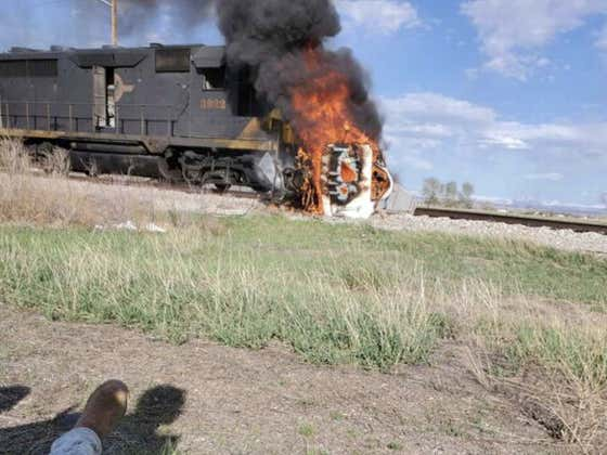 Real Life Superman/Former NFL Player Brandon Bair Rescued a Man Who Was Trapped Inside a Burning Truck After a Train Crash