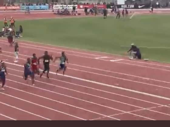 DK Metcalf Finishes Dead Last In His 100m Race, Doesn't Give A Damn Because Other Athletes Are Scared To Run