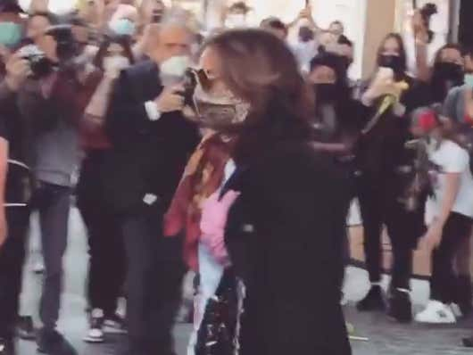 Lady Gaga Chucking Flowers At The Ground For Her Italian Fans To Pick Up Like A Bunch Of Peasants Is Laugh Out Loud Funny