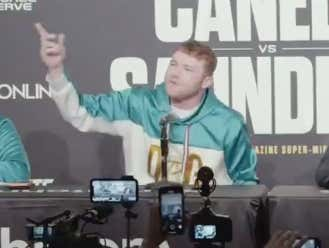 Canelo Alvarez Destroys Demetrius Andrade To His Face In Perfect English After Andrade Crashes His Press Conference To Talk Shit