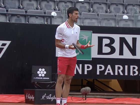 Novak Djokovic Is At It Again - This Time Screaming An Umpire's Head Off All Because He Can't Take a Little Bit Of Rain