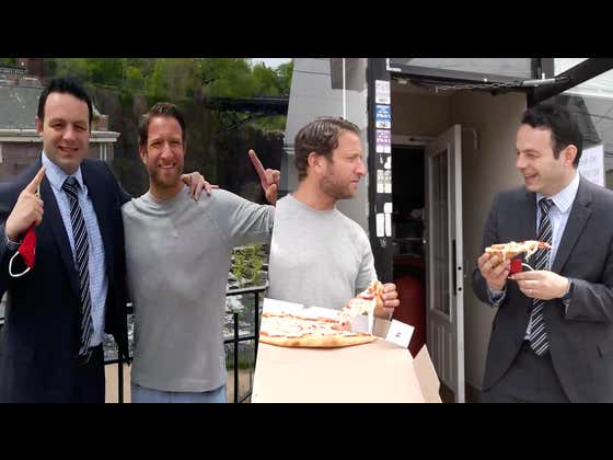 Barstool Pizza Review - Taormina (Paterson, NJ) Bonus Kidnapping By The Mayor Of Paterson