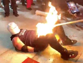 Pro Wrestler Lights His Entire Cock On Fire In Arguably The Worst Wrestling Stunt Of All Time