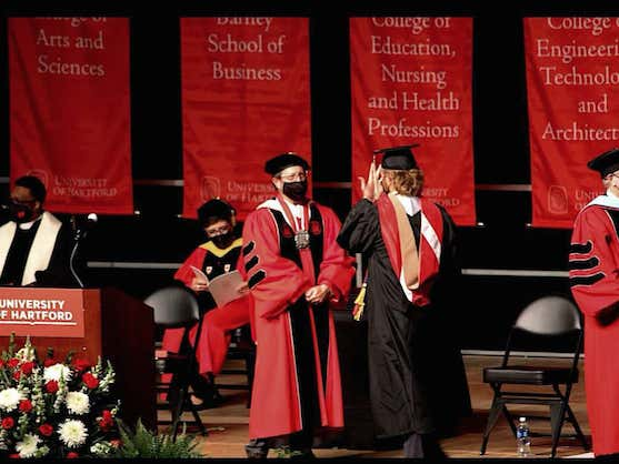 Hartford's President Was Booed To High Heaven During Graduation And Ran Off Stage Like A Coward