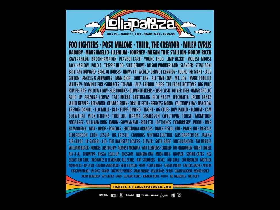 Lollapalooza Lineup Released! Miley, Foo Fighters, Post Malone, Marshmello, Journey Headlining! Let's Break It Down.