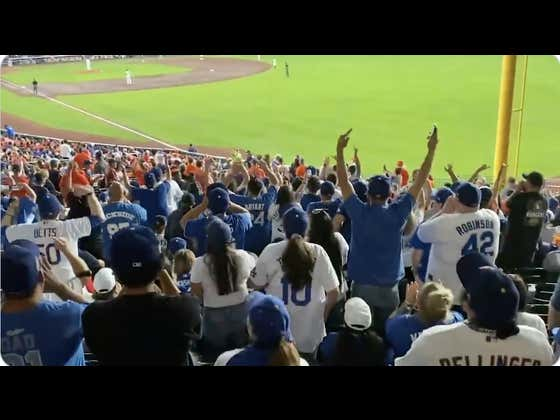 Dodgers Fans Have Completely Taken Over The City Of Houston And I Think Los Angeles Owns Houston Now