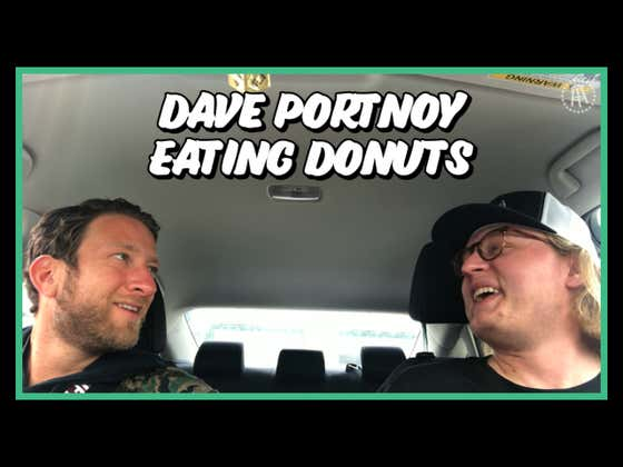 Dave Portnoy Eats Donuts At The Indianapolis Motor Speedway