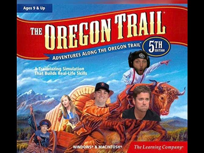 At 1PM Tomorrow, The Wagon Leaves HQ For The Oregon Trail