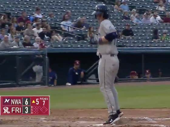 """Royals Top Prospect Bobby Witt Jr. Joins The Fun And """"Misses"""" Home Plate After Hitting A Home Run, Gets Credited With A Really Long Triple"""