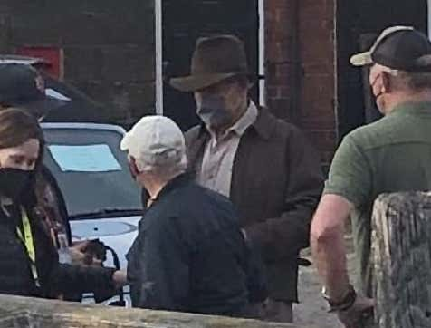 Harrison Ford Spotted On 'Indiana Jones 5' Set In The UK - Indy Is Back!