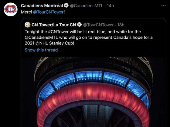 Even The CN Tower Is Sick Of The Toronto Maple Leafs' Shit