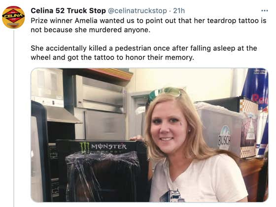 A Trucker Is Going Viral For Looking EXACTLY Like Amy Schumer.. But Wait, There's More!