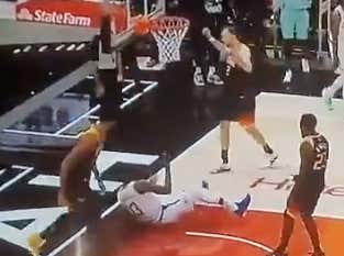 It Must Be The Playoffs Because Joe Ingles Is Out Here Kicking Paul George's Ass While Mocking Him For Flopping All Around