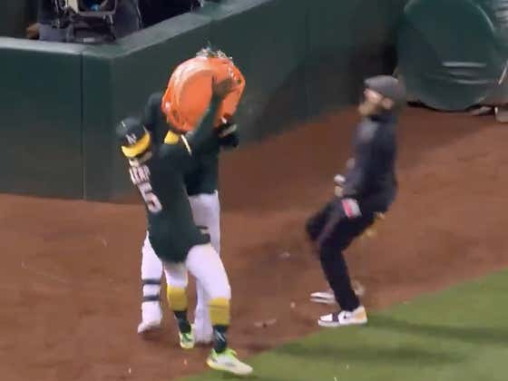 In His First Game Back Reporting On Field, Dallas Braden Had To Show Off His Speed And Appeared To Be In Mid-Season Form