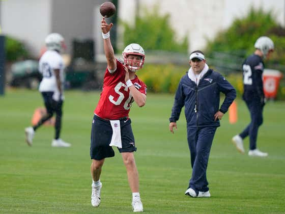 And So it Begins: Mac Jones Practices Like the Patriots QB1 for the First Time
