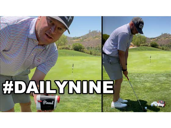 Apparently, Yesterday's Chip For The Pinned Golf #DailyNine Contest Was Too Easy...