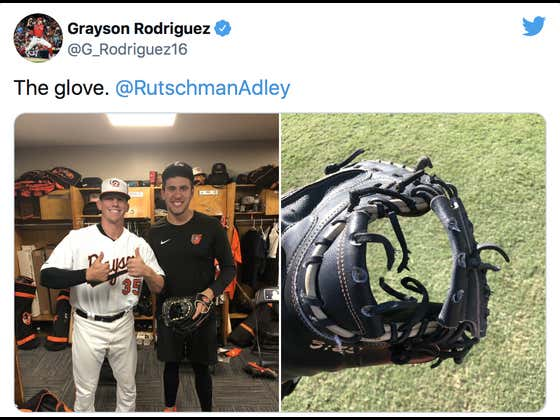 The Top Pitching Prospect In Baseball Threw A Pitch So Fast It Ripped Through The Webbing In The Top Catching Prospect In Baseball's Glove During A Game