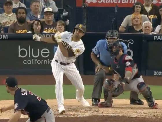 Slam Diego Doesn't Stop: Daniel Camarena, A Reliever Called Up From AAA, Just Launched a Grand Slam Off MAX SCHERZER