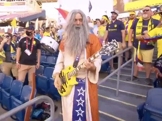 Europeans Are Mad the MLS Is Fun After Seeing Nashville SC's Soccer Moses Shred a Guitar Solo During a Match
