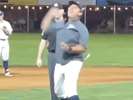 Minor League Baseball Manager Throws An Ump Out Twice, Loses Battle With Gum During An Awesome Tirade