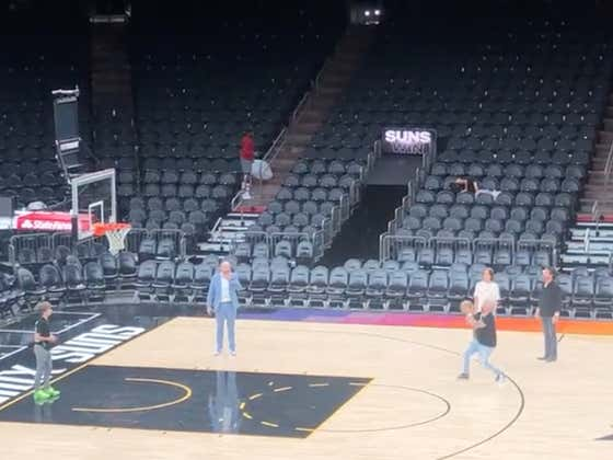 Guy Fieri Doesn't Sleep, When Everyone Goes Home He Stays Late At The Suns Arena To Work On His Game