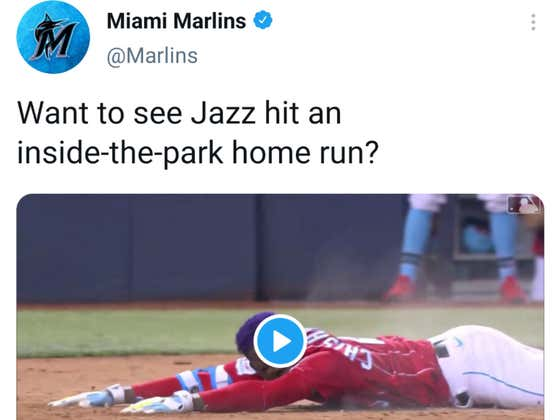 The Marlins Had to Be Bullied Into Deleting One of the Worst Tweets of 2021