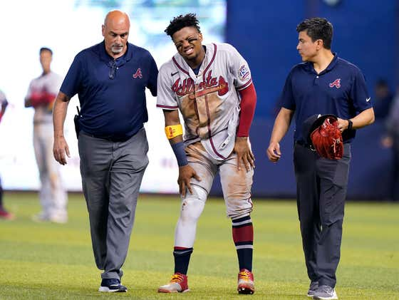 Ronald Acuña Jr. Is Officially Out For the Season With a Torn ACL