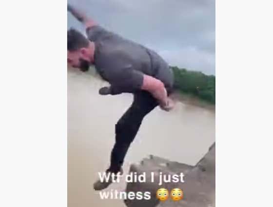 Man Stuck In Traffic Jumps Off 100Ft Bridge, Feels Immediate Ragert