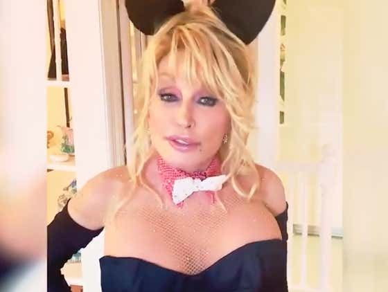 Criminally Horny Dolly Parton Just Recreated Her Iconic 1978 Playboy Cover For Her Husband's Birthday