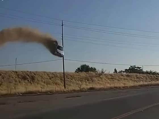 A Car Flying Through The Air Is A Less Than Ideal Thing To See While You're Driving Down The Highway, To Say The Least