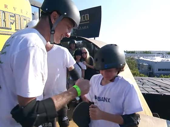 Tony Hawk Is Still Competing In The X Games, But Some 12-Year-Old Stole The Show By Landing The First Ever 1080 In Competition