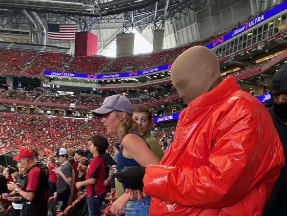 Kanye West Is Reportedly Living Inside Mercedes-Benz Stadium to Finish His Album and Was Just Wandering Around the Seats During an Atlanta United Game