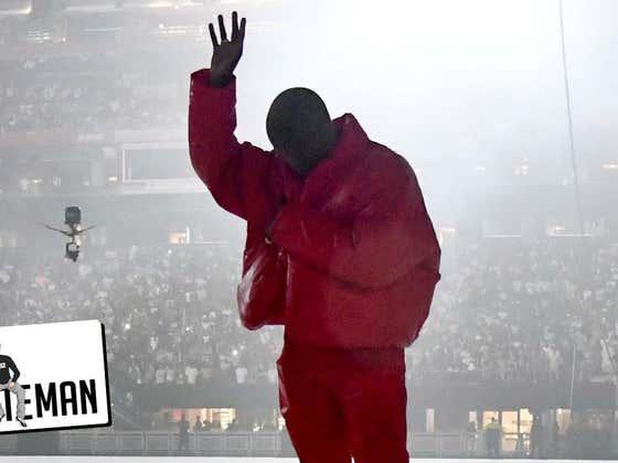 Kanye's Latest Stunt, Living Inside Mecedes-Benz Arena | One Minute Man