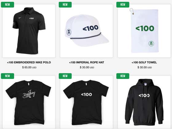 Get Your <100 Merch!