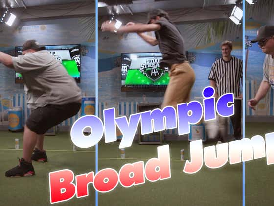 Barstool Sports Does An Olympic Broad Jump Competition Part 1