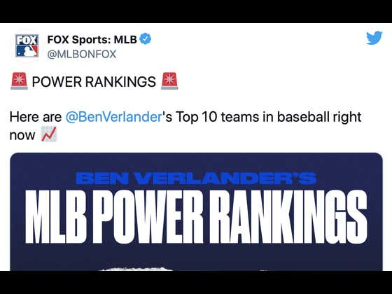 MLB On Fox Just Released Their Power Rankings List, And You'll NEVER Guess Who They Left Off!!!!