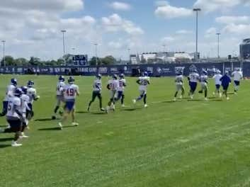 Quick Check In From Giants Camp: Joe Judge Made The Entire Defense And Their Coaches Run Laps This Morning Because They Messed Up A Substitution On A Field Goal Block