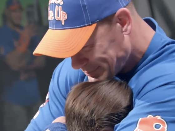 This Video Of A Mother/Son Surprising John Cena After He Unknowingly Inspired Them Is An All Time Tear-Jerker