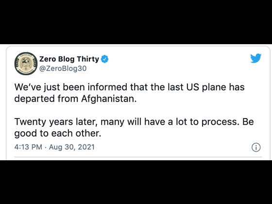 Officially Over - The Last Plane Has Left Afghanistan