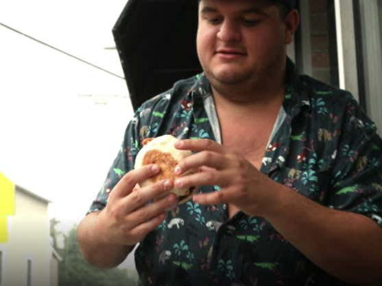 Life's Not About Waiting For The Storm To Pass, It's About Reviewing Burgers In The Rain