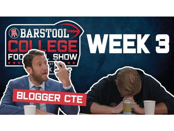 College Football Week 3: Blogger CTE