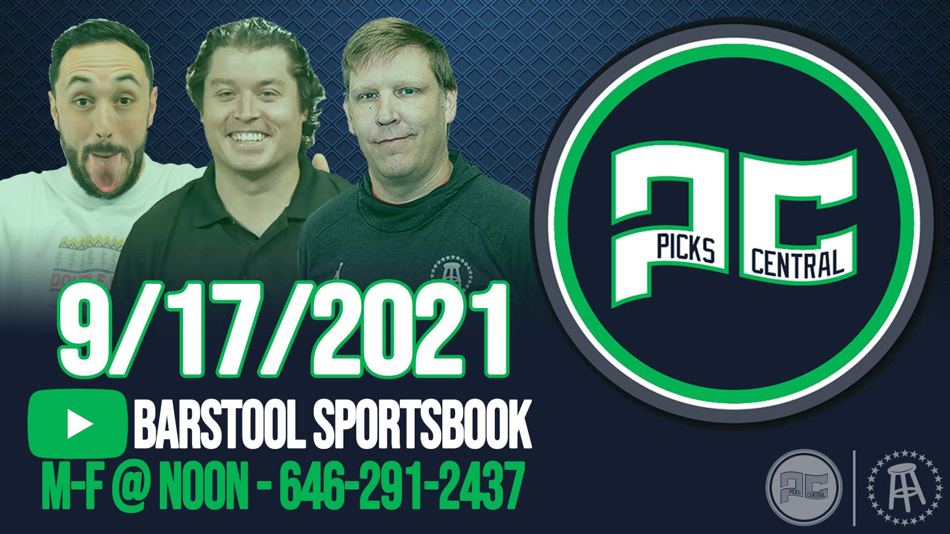 Barstool Sports Picks Central with Brandon Walker || Friday, September 17th, 2021